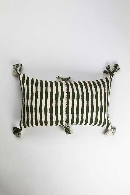Archive New York Olive Green Antigua Pillow - Anthropologie