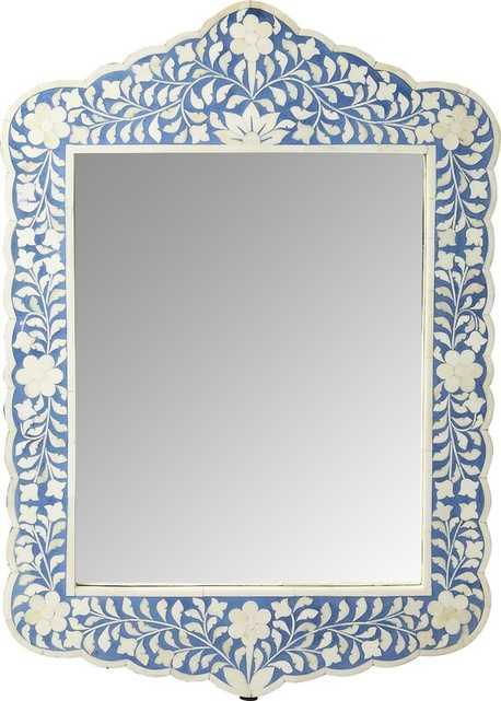 Alayna Botanic Bone Inlay Traditional Beveled Accent Mirror - Birch Lane
