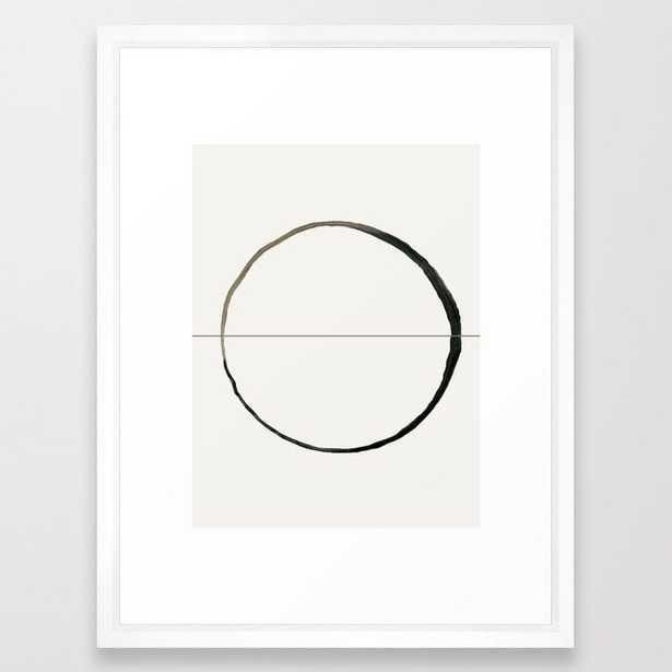 """C7 Framed Art - 20x26"""" - Scoop White Frame - Society6"""