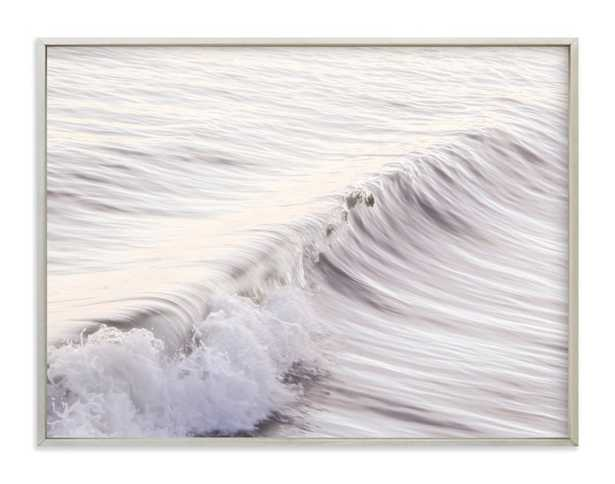 """Cayucos Soft Waves - 40"""" x 30"""", champagne silver frame - Minted"""