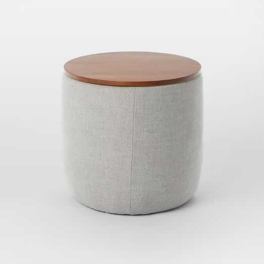 Upholstered Storage Base Ottoman - Small - West Elm