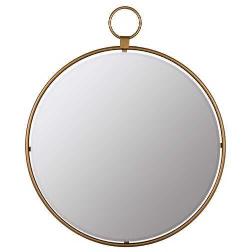Matthias Round Modern & Contemporary Beveled Accent Mirror - Wayfair