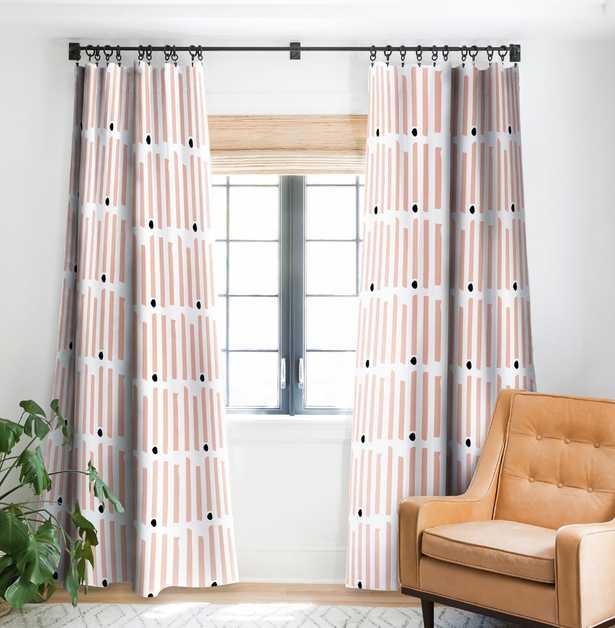CHATHAM STRIPES Blackout Curtain, Pair, Pink - Wander Print Co.