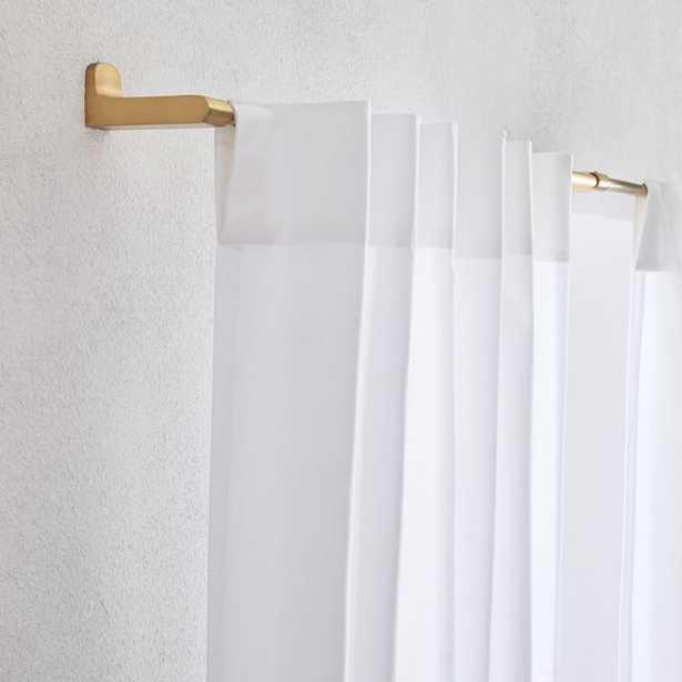 "Cotton Canvas Curtain - White - unlined set of 2, 96"" - West Elm"