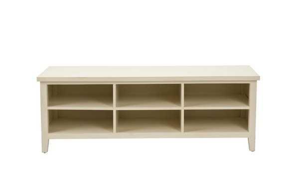 Sadie Low Bookshelf - Shady White - Arlo Home - Arlo Home