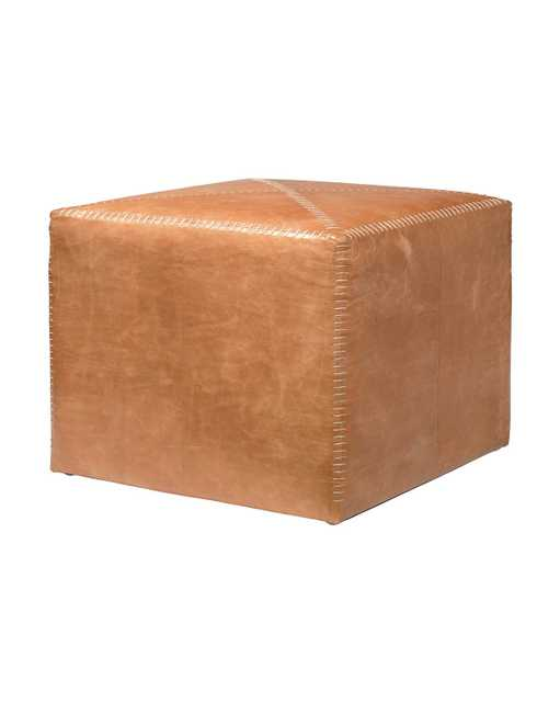 GABBY LEATHER OTTOMAN - SMALL - McGee & Co.