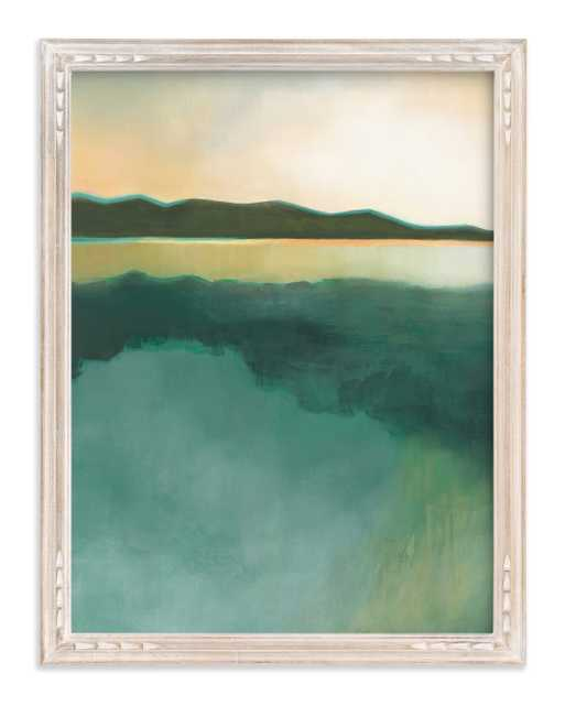 """Tranquil Harbor by Alison Jerry Designs with Whitewashed French Farmhouse Frame - 18""""x24"""" - Minted"""