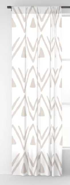 Etched Zig Zag Pattern in Tan Blackout Curtain. 50 X 96, set of two - Society6