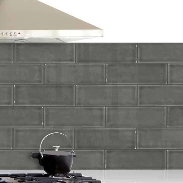 "4"" x 12"" Ceramic Wall Tile in Dove Gray - Wayfair"