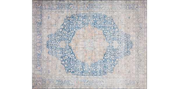 "LAY-07 BLUE / TANGERINE -7'6"" x 9'6"" - Loma Threads"