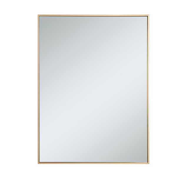 "40"" H x 30"" W Brass Zayd Accent Mirror - AllModern"