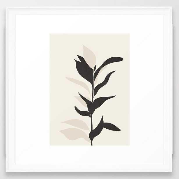 "Abstract Minimal Plant Framed Art Print 22"" x 22"" - Society6"