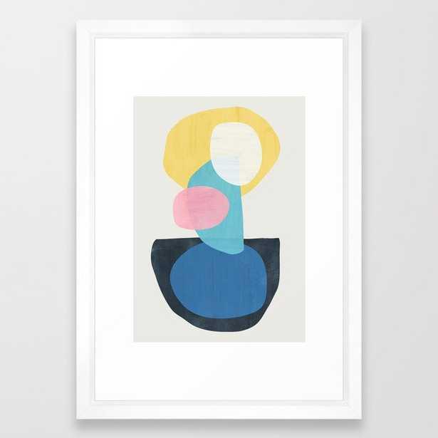 Shapes Abstract 16 Framed Art Print - Society6