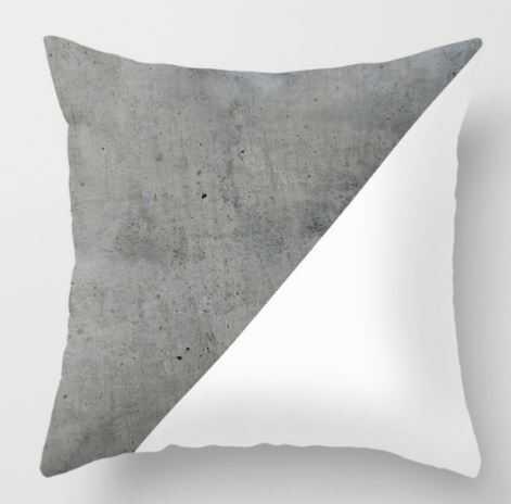 Concrete Vs White Throw Pillow - Society6
