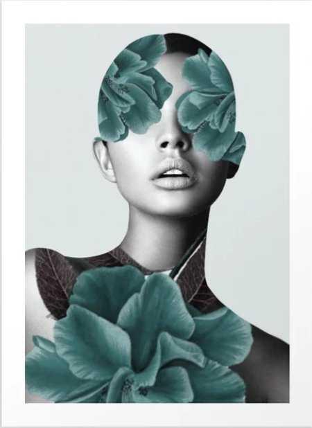 Floral Portrait (woman) Art Print - Society6