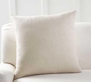 "Libeco Linen Pillow Cover 24 x 24"", Bone - Pottery Barn"