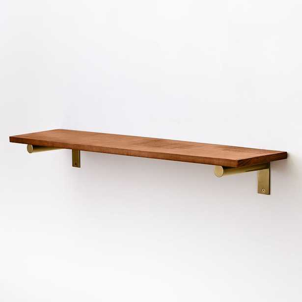 Linear Wood Shelf, Walnut, Large - West Elm