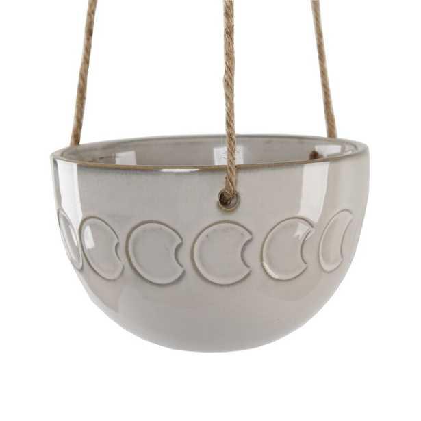 Moon Phase Ceramic Hanging Planter - Wayfair