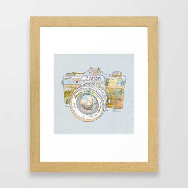 Travel Canon Framed Art Print x-small - Society6
