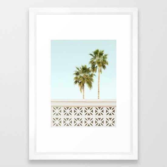 Palm Springs Breeze Block I Framed Art Print - Society6