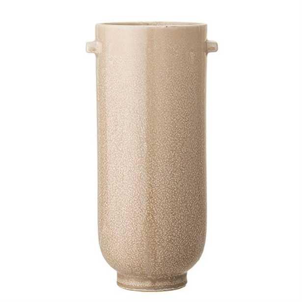 Stoneware Vase with Reactive Glaze, Cream - Moss & Wilder