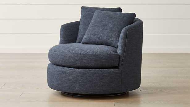 Tillie Swivel Chair-Darius, Navy - Crate and Barrel