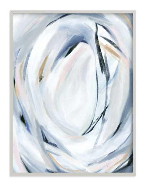 "Unbridled  FRAMED ART PRINT-  30"" X 40""- Light Grey - Minted"