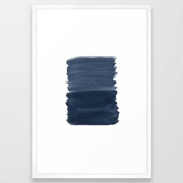 Blue Abstract Minimalism #1 #minimal #ink #decor #art #society6 Framed Art Print - Society6