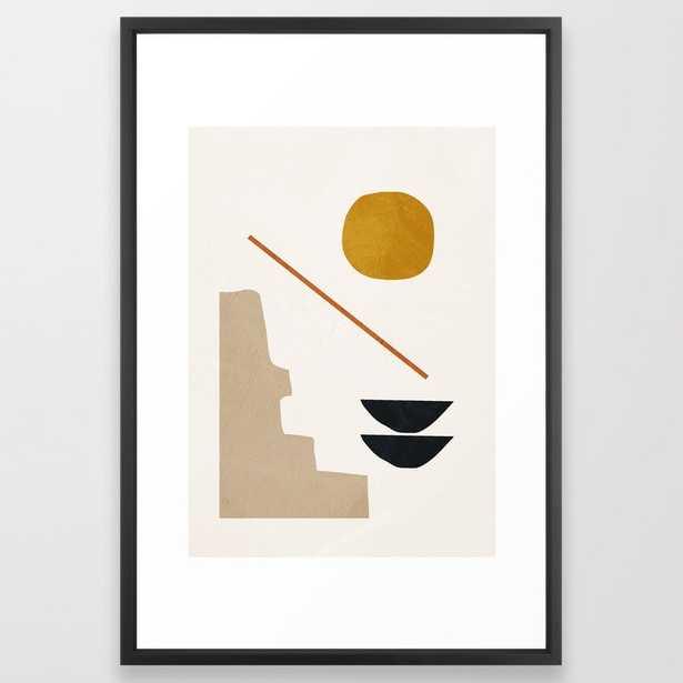 "abstract minimal 6 Framed Art Print - 26x38"", vector black - Society6"