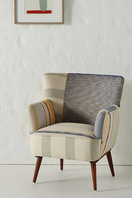 Striped Petite Accent Chair - Anthropologie