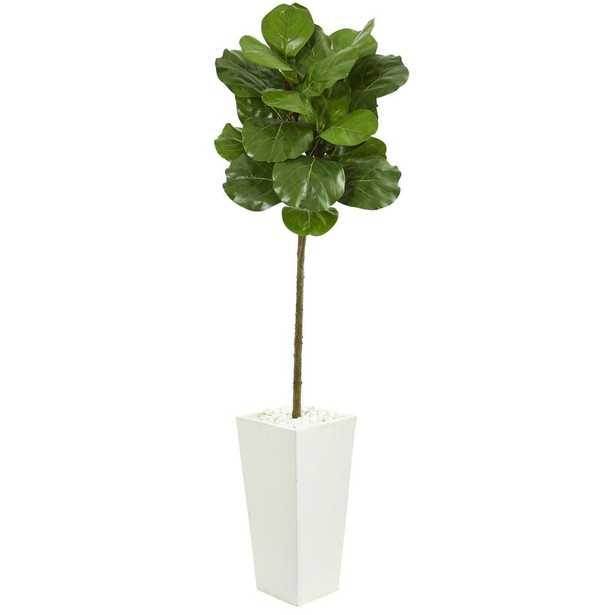 5.5' Fiddle Leaf Artificial Tree - Fiddle + Bloom