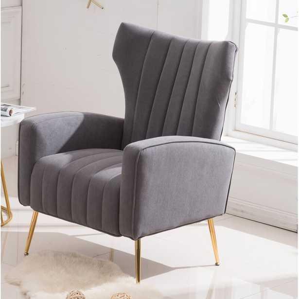 Lauretta 27.5'' Wide Tufted Velvet Wingback Chair - Wayfair
