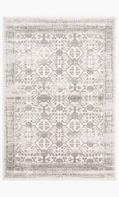 """Joa-04 Ivory / Grey /  7'10x10'10"""" - Loma Threads"""