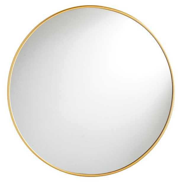 Metal Framed Mirrors, Round, Brass - Pottery Barn Teen