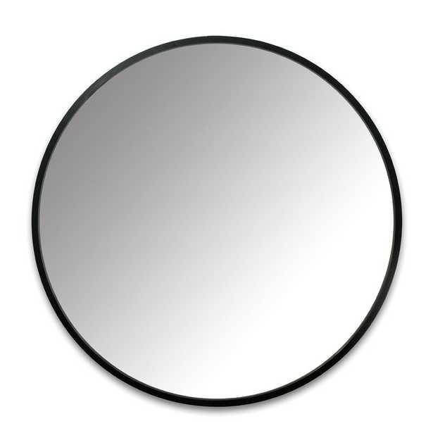 "Hub Modern and Contemporary Accent Mirror, Black frame, 24"" - Wayfair"