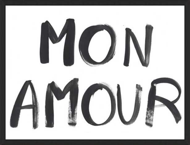 Mon Amour Framed Print, 8 x 6 - Artfully Walls