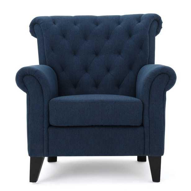 """Penbrook 20"""" Armchair -  Navy Blue - Wayfair"""
