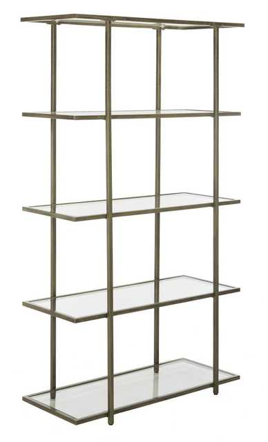 Francis 5 Tier Etagere - French Silver/Clear - Arlo Home - Arlo Home
