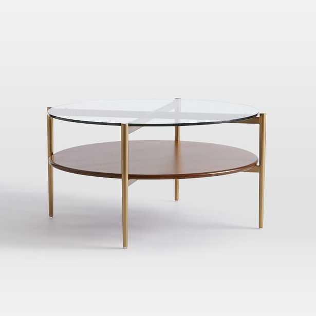 Mid-Century Art Display Round Coffee Table - West Elm
