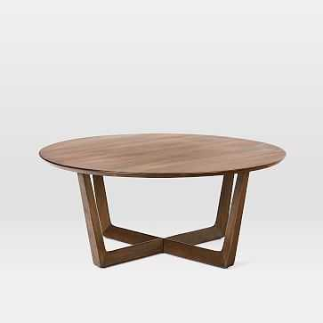 Stowe Coffee Table, Dark Walnut - West Elm