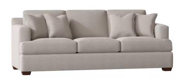 "Sunbrella® 91"" Recessed Arm Sofa - Cast Silver - Wayfair"