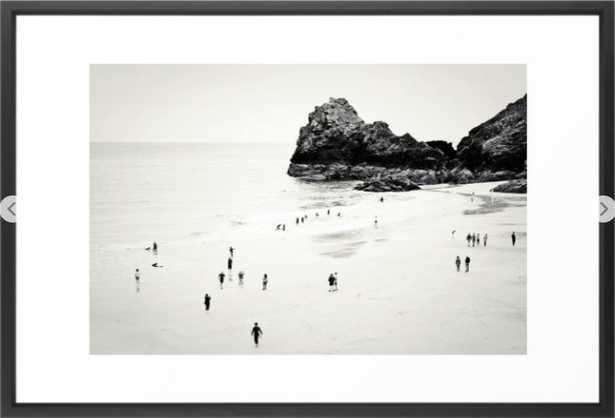 Cornwall beach life Framed Art Print - Society6