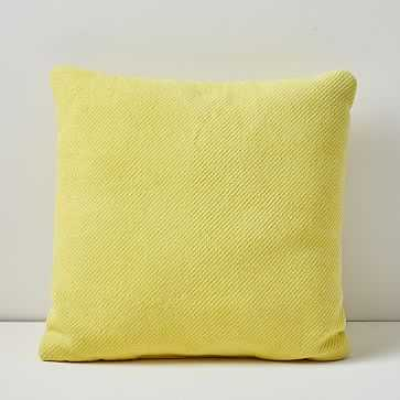 "Outdoor Garment Washed Pillow, 20""x20"", Sun Yellow - West Elm"