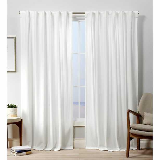 Tremblay Velvet Heavyweight Hidden Solid Room Darkening Tab Top Curtain Panels (Set of 2) - Wayfair