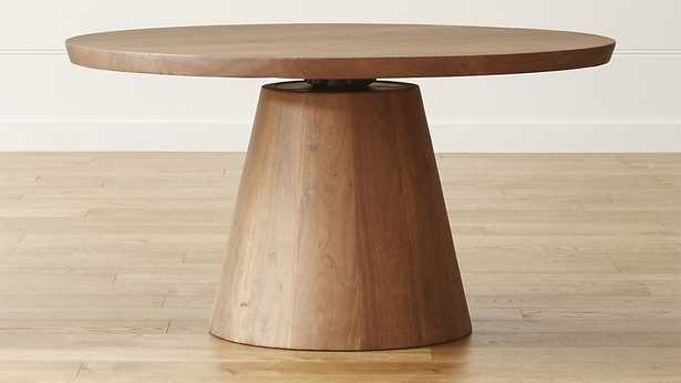 """Revolve 48"""" Round Adjustable Height Dining Table - Crate and Barrel"""