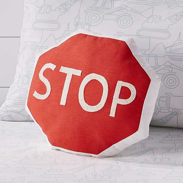 Stop Traffic Sign Throw Pillow - Crate and Barrel
