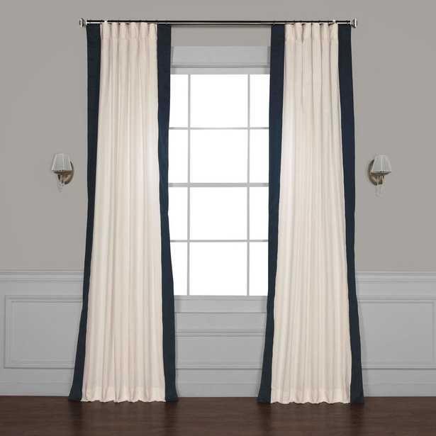 Winsor Semi-Sheer Rod Pocket Single Curtain Panel - Polo Navy, 50'' W x 84'' L - Wayfair