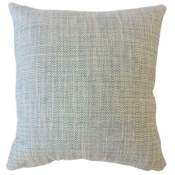 """Textured Linen Pillow, Bluestone, 18"""" x 18"""" - Havenly Essentials"""