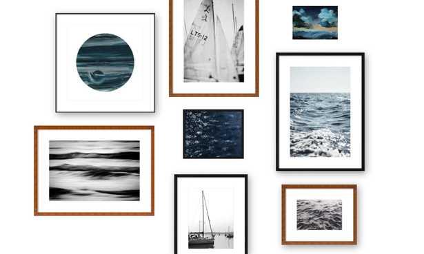 Open Sea Gallery Wall Set - Artfully Walls