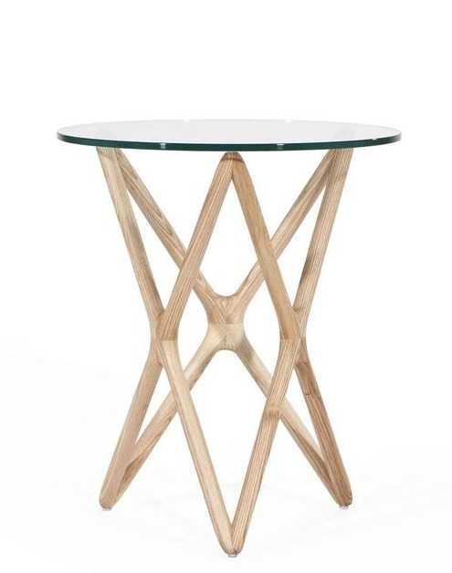 Xylda Side Table, White Oak - Lulu and Georgia